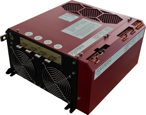 High-power high-voltage 40kW 150V to 750V 120A bi-directional air-cooled DC/DC converter RedPrime from Zekalabs